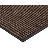 """NoTrax 109 Brush Step Entrance Mat, for Lobbies and Indoor Entranceways, 2' Width x 3' Length x 3/8"""" Thickness, Brown"""