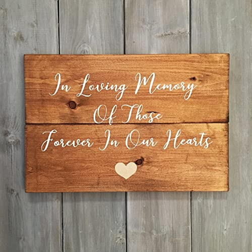 In Loving Memory Of Those Forever In Our Hearts   Wood