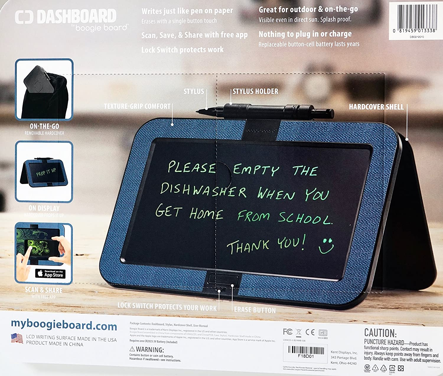 Blue Boogie Board Dashboard with Hardcover Shell