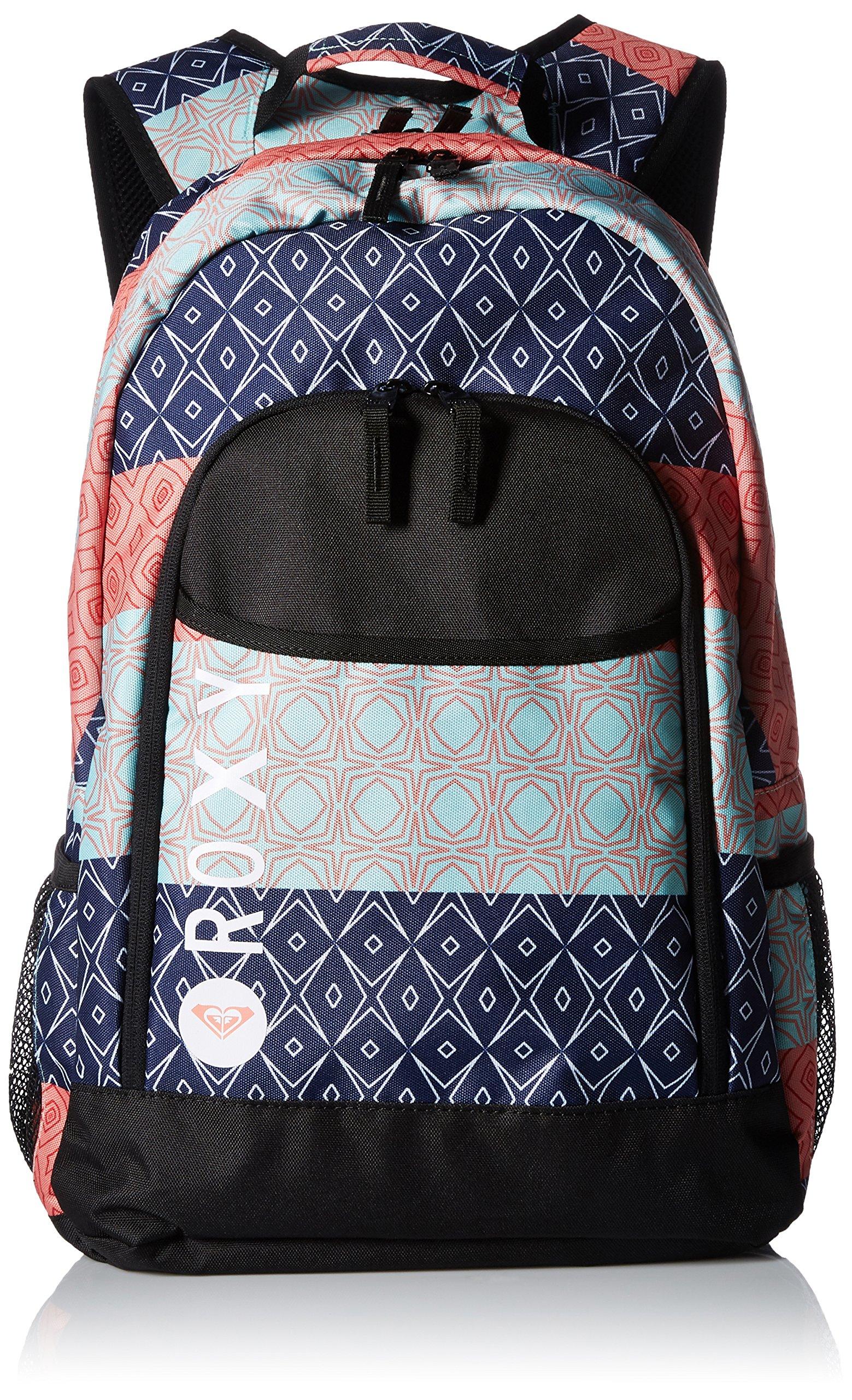 Roxy Women's Cool Breeze Backpack, Peacoat Simple Stripe
