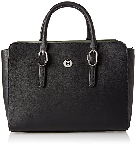 Tommy Hilfiger Th Buckle Satchel, Women's Cross-Body Bag