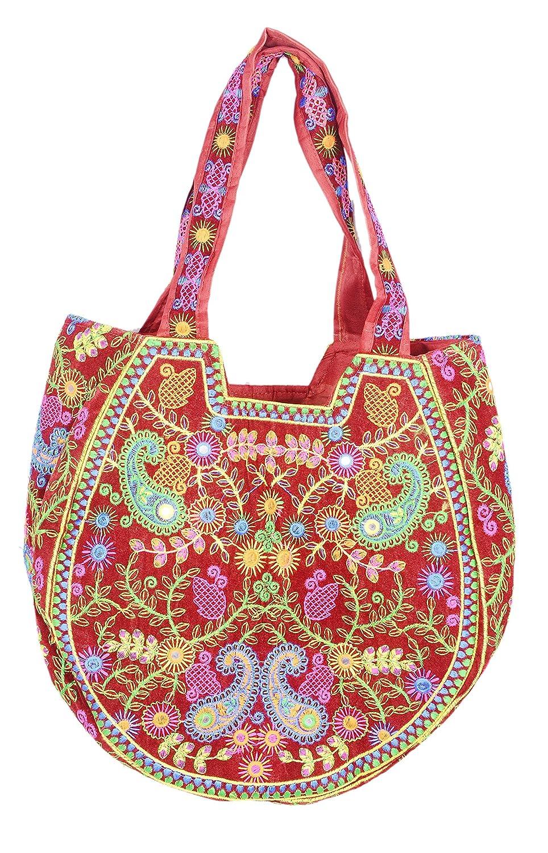 Amazon.com: Étnico Vintage Banjara hecho a mano bolso de ...