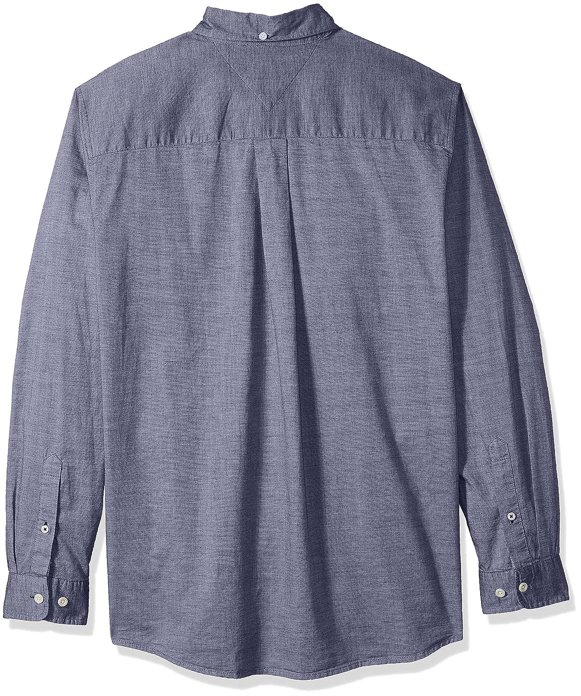 9202b6b33 Amazon.com: Tommy Hilfiger Men's Big and Tall Big & Tall Capote Long Sleeve  Shirt: Clothing