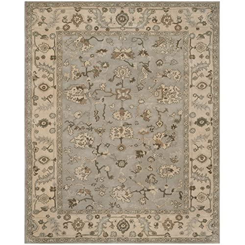 Safavieh Heritage Collection HG865A Handcrafted Traditional Oriental Beige and Grey Wool Area Rug 4 x 6