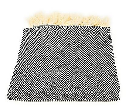 Toallas turcas 100 % algodón de Elmas con zigzag; para el hammam (Peshtemal)