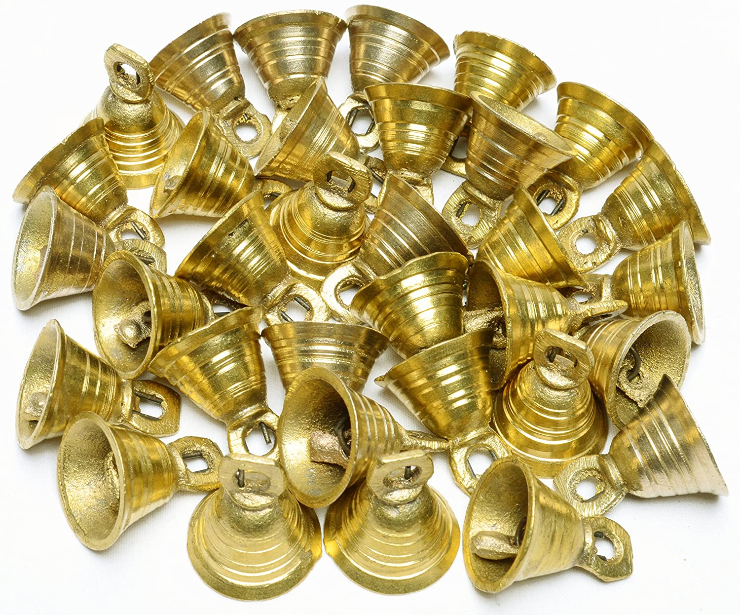 1H Lot 30 Brass Bells Elephant Cow Camel Decor Bells Vintage Style Indian Craft AzKrafts