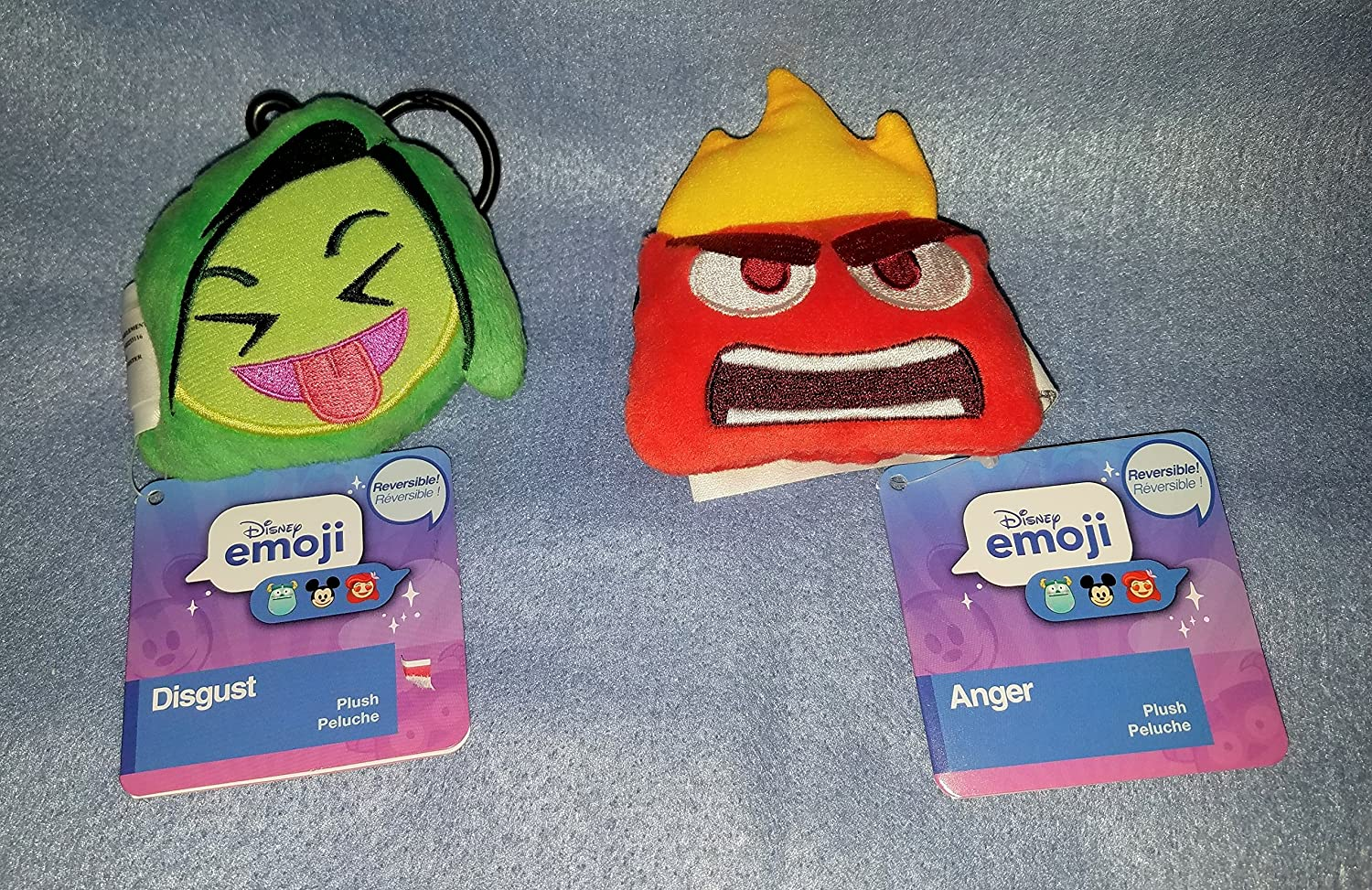 Amazon.com: Global Horizons Disney Inside Out Reversible Plush Emoji Backpack/Purse Clip Set: Anger - Disgust: Toys & Games