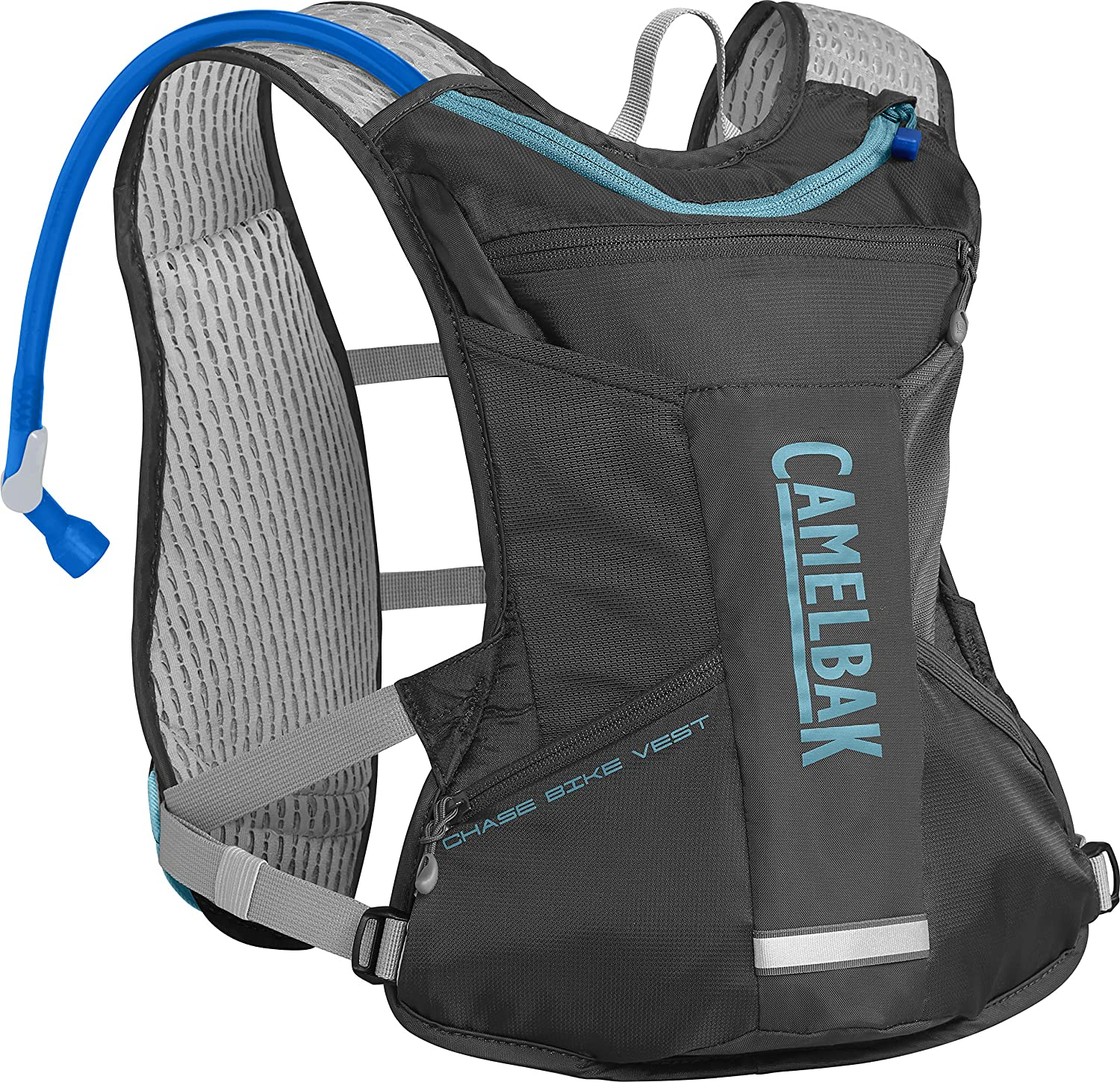 CamelBak Chase Women s Bike Hydration Vest – Engineered for Women – Faster Water Flow Rate – Front Harness Pockets – 3D Vent Mesh – Dual Adjustable Sternum Straps – 50 Ounce