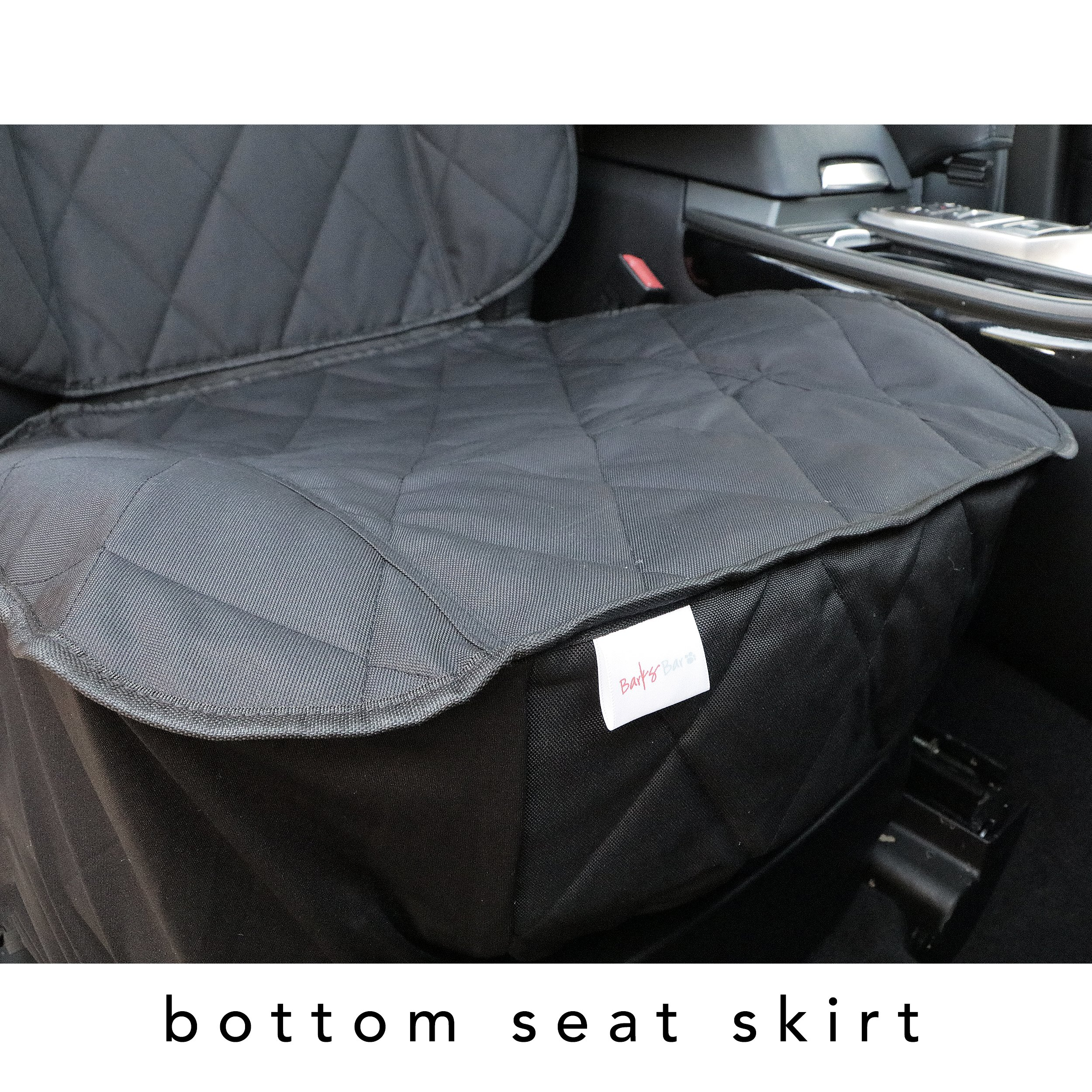 BarksBar Pet Front Seat Cover for Cars - Black, WaterProof & Nonslip Backing by BarksBar (Image #6)