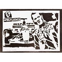 F1 Michael Schumacher Poster Plakat Handmade Graffiti Street Art - Artwork