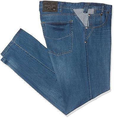 REPLIKA JEANS Men's 99060 Loose Fit Jeans, Blau (Blue used Wash 0597),