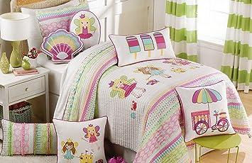 Amazon.com: bebé Girls Juego de ropa de cama colcha de Fairy ...