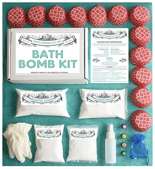 Bath Bomb Making Kit with 100% Pure Therapeutic Grade Essential Oils