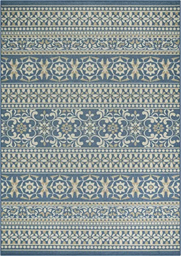 Maples Rugs Zoe Area Rugs for Living Room Bedroom Made in USA , 7 x 10, Blue