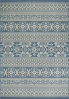 product image for Maples Rugs Zoe Area Rugs for Living Room & Bedroom [Made in USA], 7 x 10, Blue