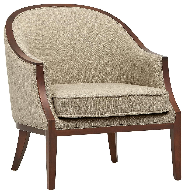 """Stone & Beam Ashbury Modern Exposed Wood Accent Chair, 29""""W, Hemp"""