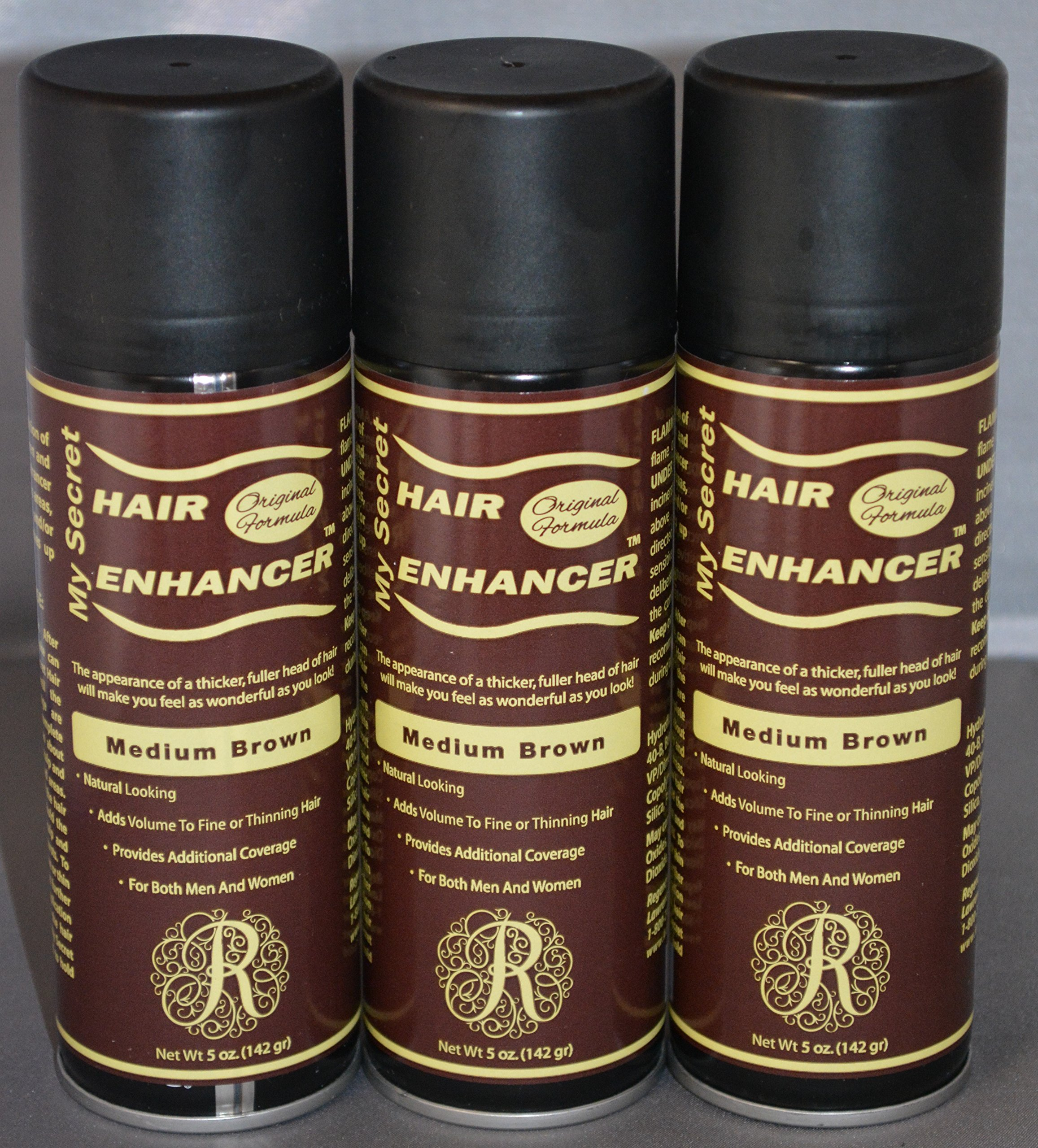 My Secret Hair Enhancer Medium Brown 5 oz. (3 Pack)