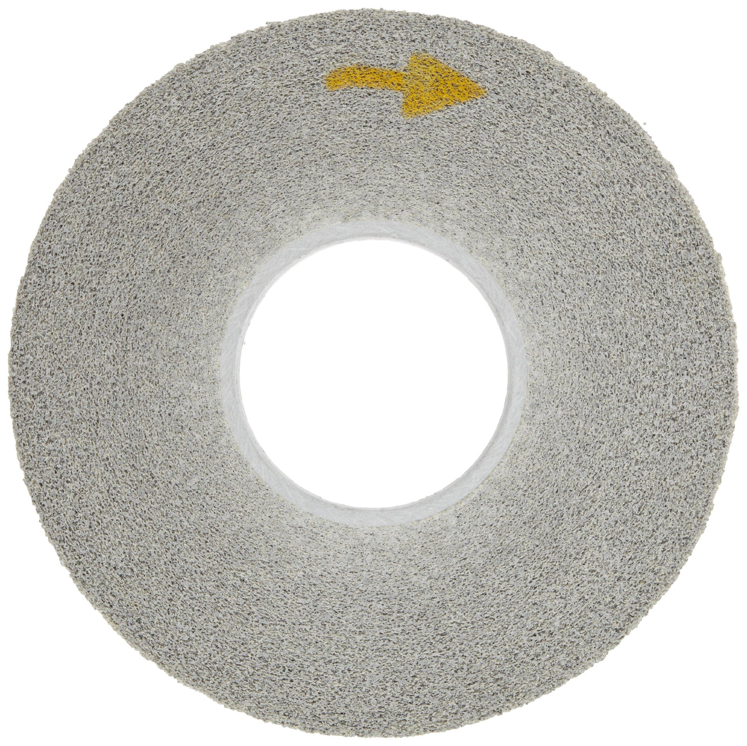 Scotch-Brite(TM) EXL Deburring Wheel, Aluminum Oxide, 3000 rpm, 12 Diameter x 1 Width, 5 Arbor, 8A Medium Grit (Pack of 1)