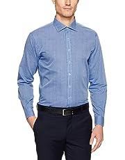 Van Heusen Men's Euro-Tailored Fit Micro Check Business Shirt