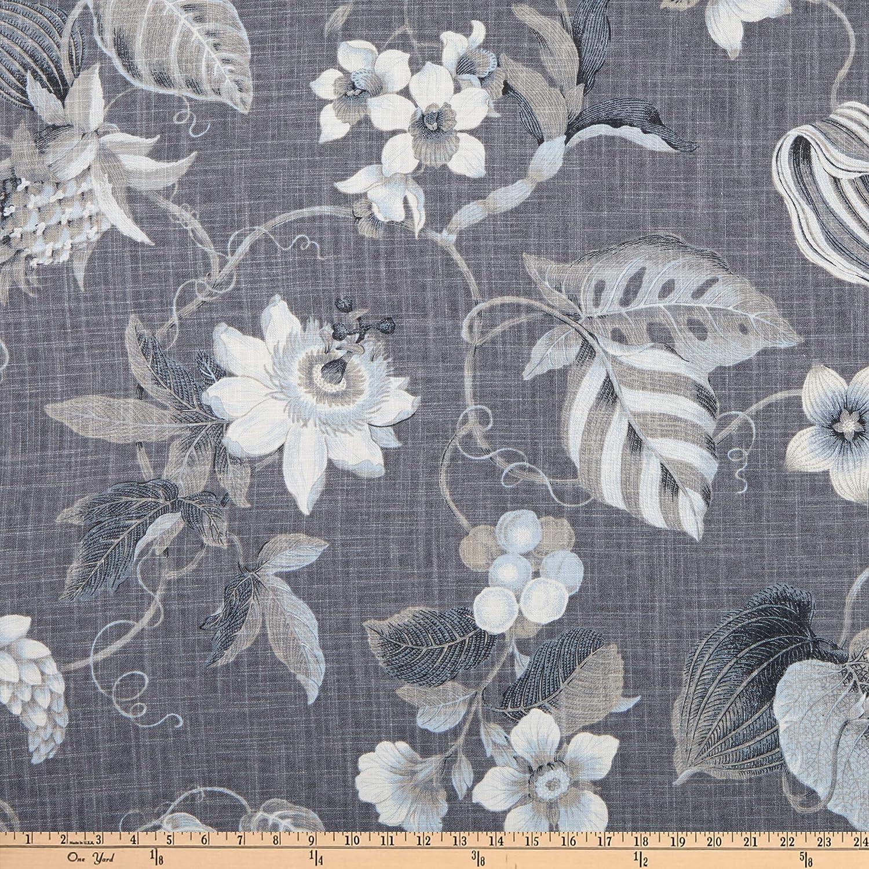 P Kaufmann Blanca Linen Graphite Fabric by the Yard