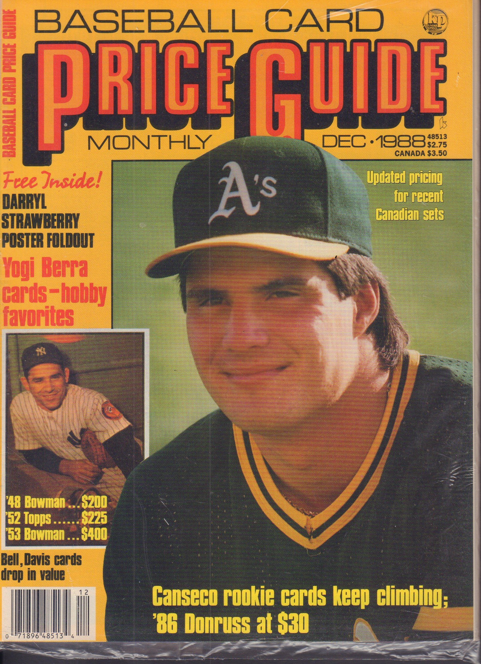 Baseball Card Price Guide December 1988 Darryl Strawberry