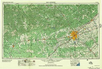 san antonio topographic map Amazon Com Yellowmaps San Antonio Tx Topo Map 1 250000 Scale 1 san antonio topographic map