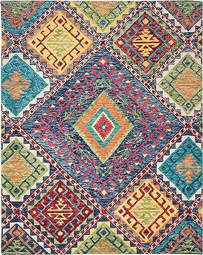 Safavieh Aspen Collection APN516M Handmade Boho Wool Area Rug