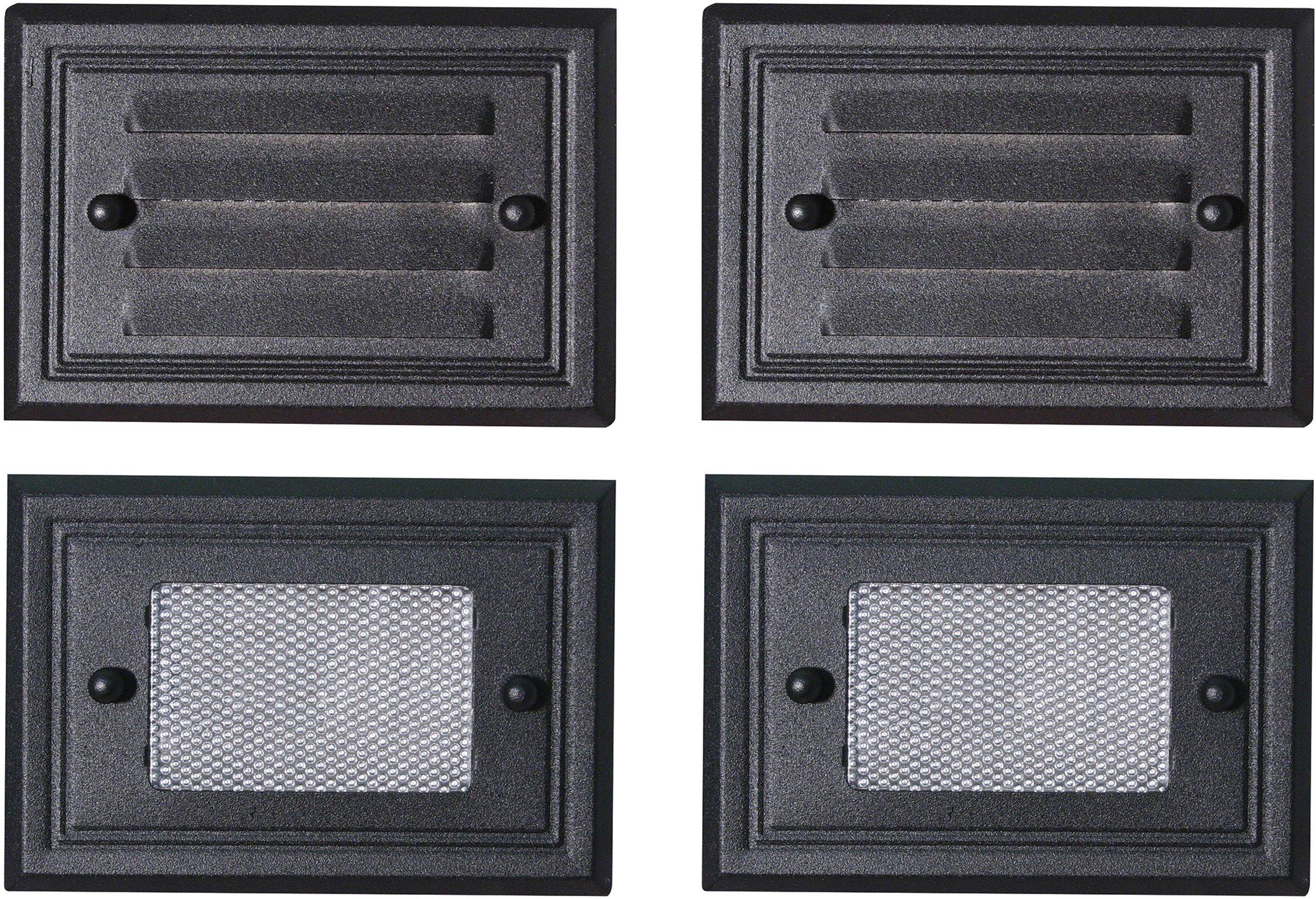 Paradise GL22682BK Low Voltage Aluminum 7W Deck Light (Black, 4 Pack)