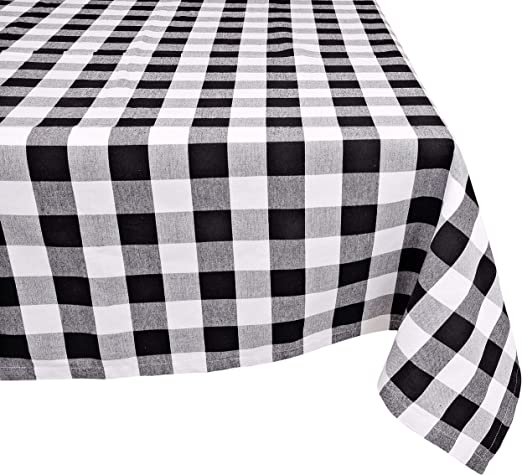Sale 100/% Cotton Fabric Patchwork Gingham Check Squares Tablecloth Picnic
