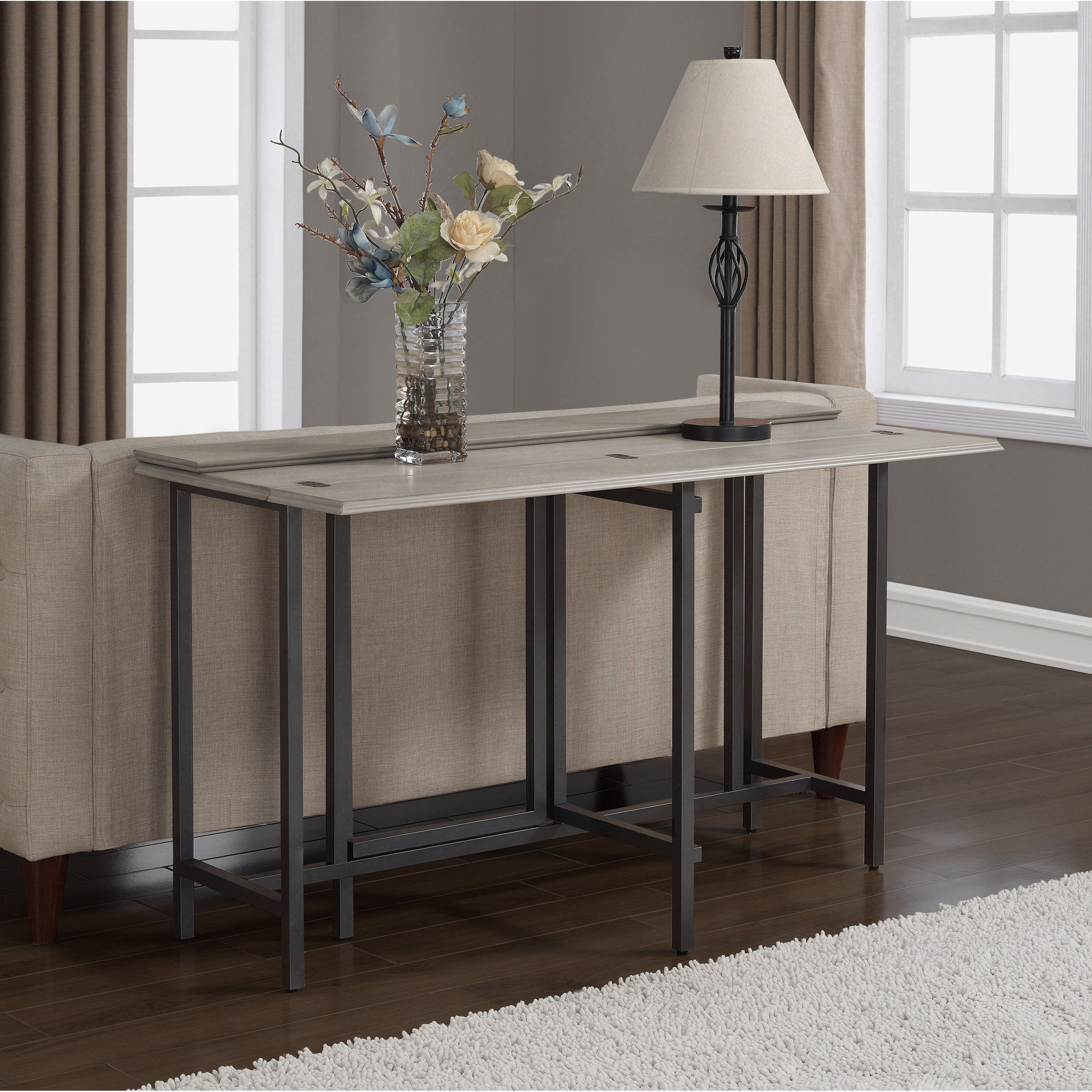 Convertible Dining Table Wood Contemporary Expandable Home Console Kitchen Table by I Love Living (Image #7)