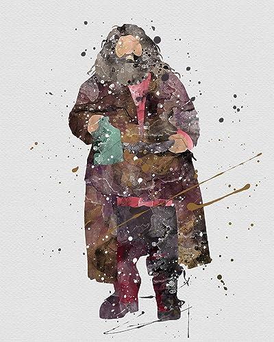 Watercolor Harry Potter Rubeus Hagrid Home Print