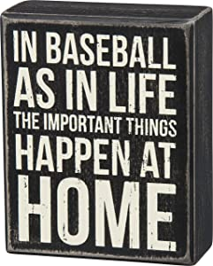 Primitives by Kathy Classic Box Sign, in Baseball and in Life