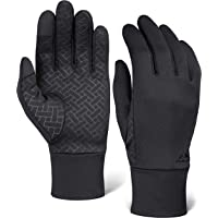 Tough Outdoors Touch Screen Running Sports Gloves - Lightweight Thermal Glove Liners Designed for Running, Cycling, Driving & Texting - 90% Nylon 10% Spandex Reinforced Blend - Fits Men & Women