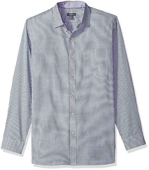 6c76f3ff75dc3 Van Heusen Men s Wrinkle Free Non Iron Long Sleeve Shirt  Amazon.in ...