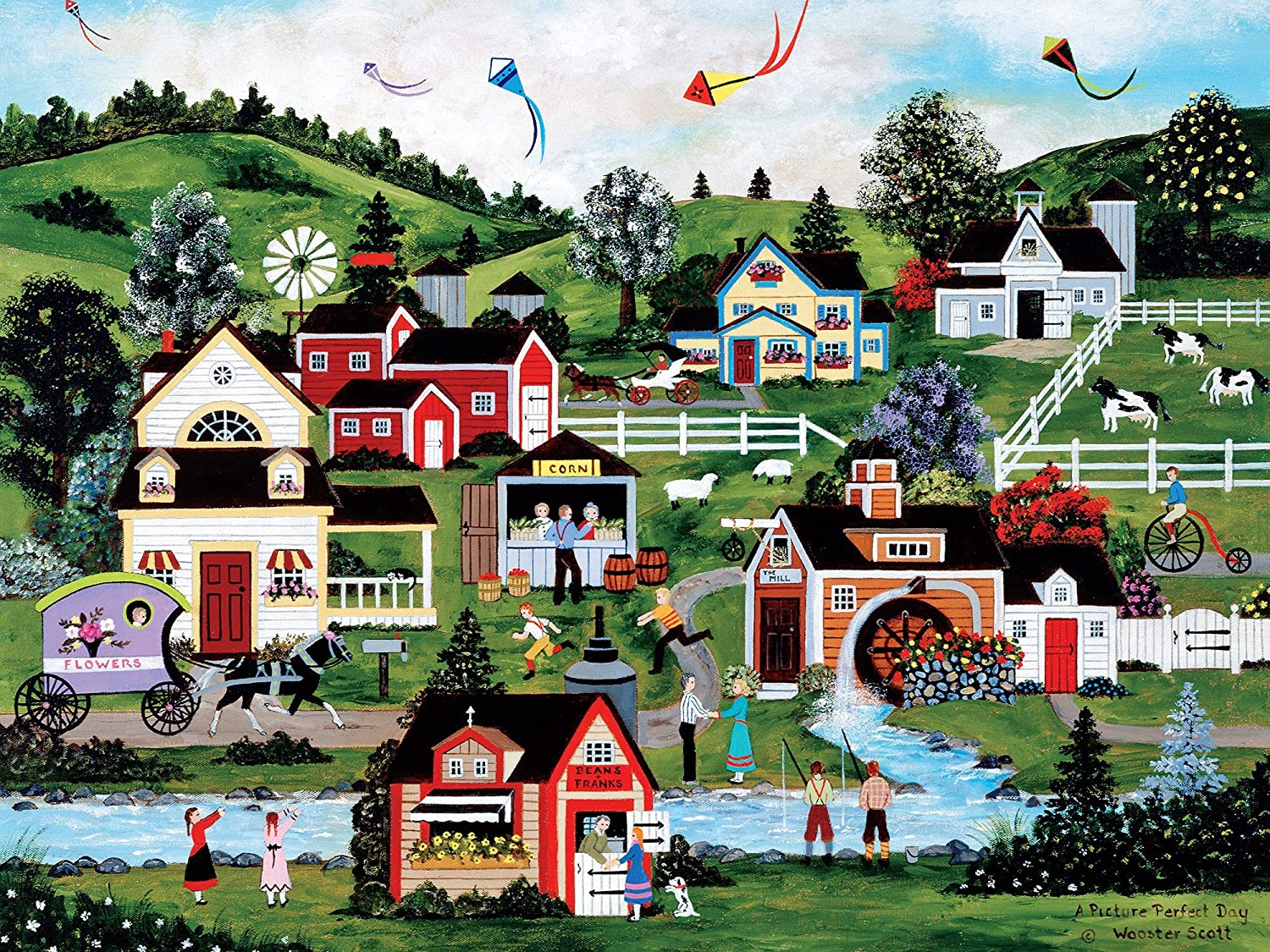 A Picture Perfect Day 20016 Ceaco Perfect Piece Count Puzzle Jane Wooster Scott