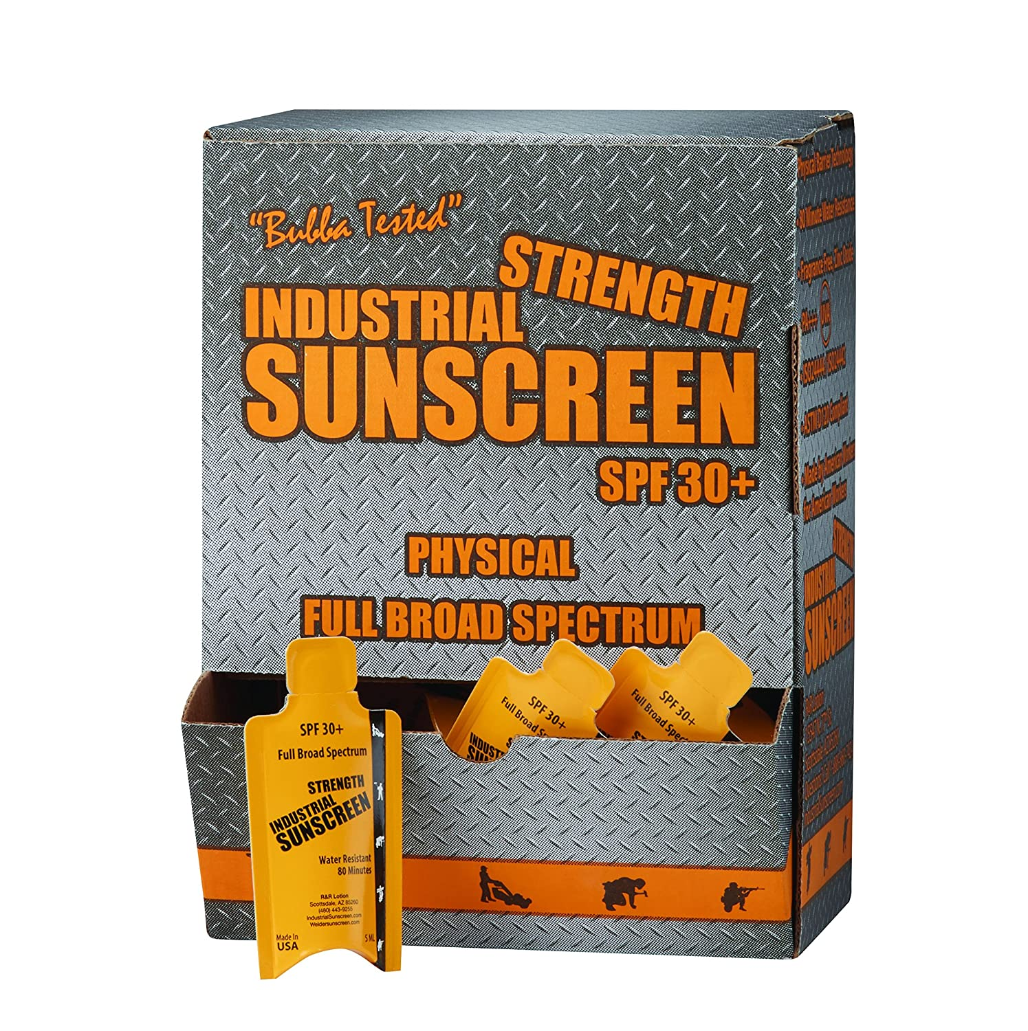 R&R Lotion ICSSP-50-30+ Industrial Sunscreen Packet, 5 fl.oz. Capacity, 5 mL ICSSP-30+FF-50