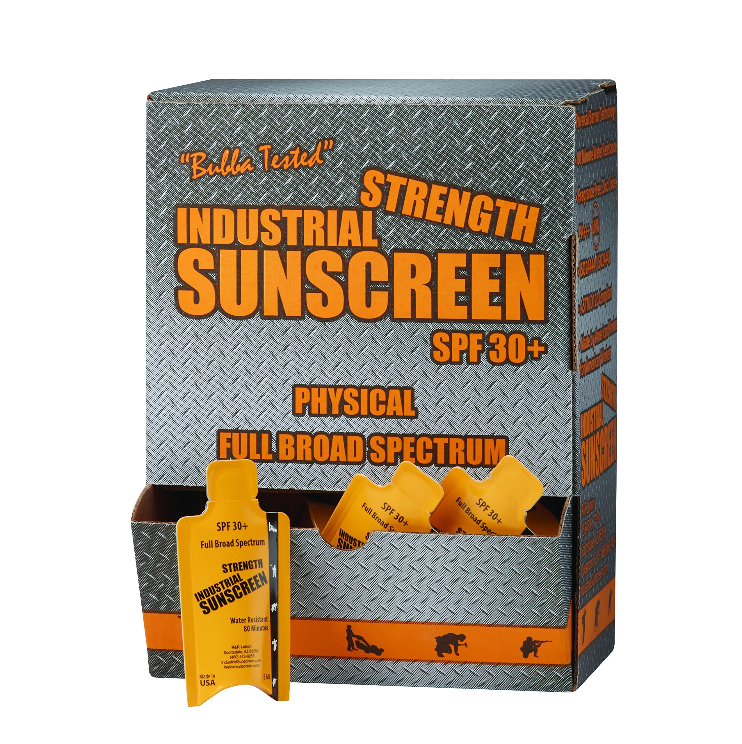R&R Lotion ICSSP-100-30+ Industrial Sunscreen Packet, 3.5'' Height, 5 fl.oz. Capacity, 5 mL