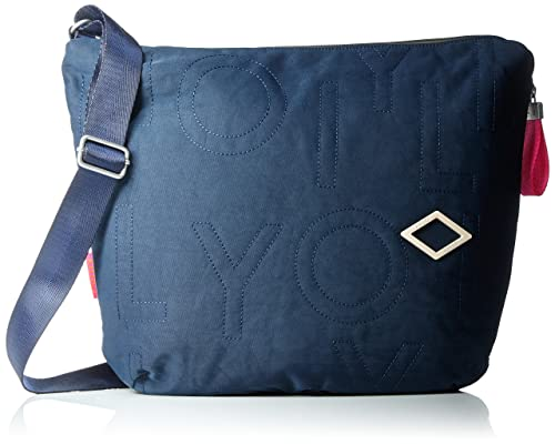Oilily - Spell Shoulderbag Lhz, Bolsos bandolera Mujer, Blau (Dark Blue), 8x32x40 cm (B x H T): Amazon.es: Zapatos y complementos