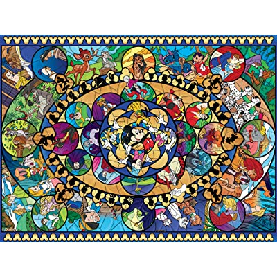 Ceaco Disney Classics II Oval Stained Glass Jigsaw Puzzle, 1500 Pieces: Toys & Games