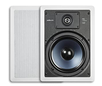 Amazon.com: Polk Audio RC85i 2-Way In-Wall Speakers (Pair, White ...