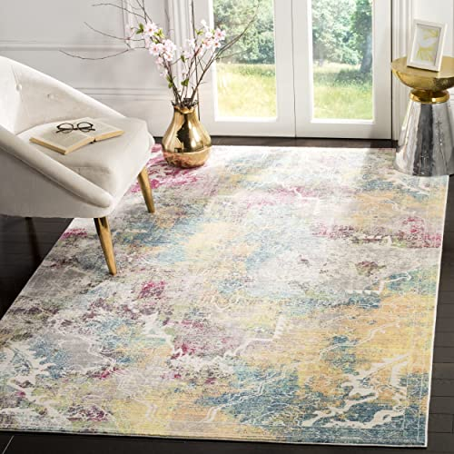 Safavieh Mystique Collection MYS921M Vintage Watercolor Multicolored Distressed Area Rug 9 x 12