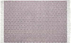 Alfombra de diseño moderna de salón grande con flecos - anudado a mano - 100% algodón - lavable - varios colores - 120 x 180 cm - Rosa: Amazon.es: Hogar