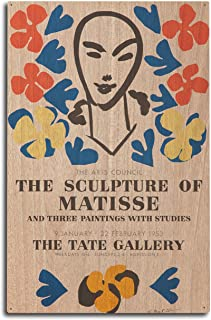 product image for The Sculpture of Matisse - Tate Gallery Vintage Poster (Artist: Matisse) France c. 1953 (10x15 Wood Wall Sign, Wall Decor Ready to Hang)