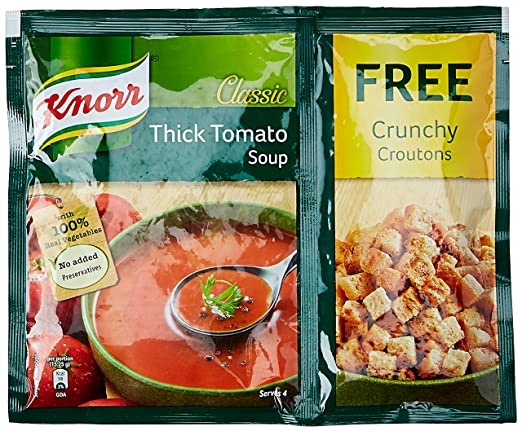 Knorr Classic Tomato Soup 61g With Free Crunchy Croutons