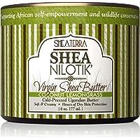 Shea Terra Organics 100% Organic Cold-Pressed Virgin Shea Butter – Coconut Lemongrass | Natural Anti-Aging Daily Skin…