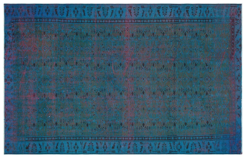 Bespoky ビンテージ 手織 ラグ 青 大きいサイズ 169 X 260 Cm   B07HKZRKL8