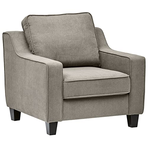 Stone Beam Isabel Traditional Accent Chair, 36 W, Slate Grey