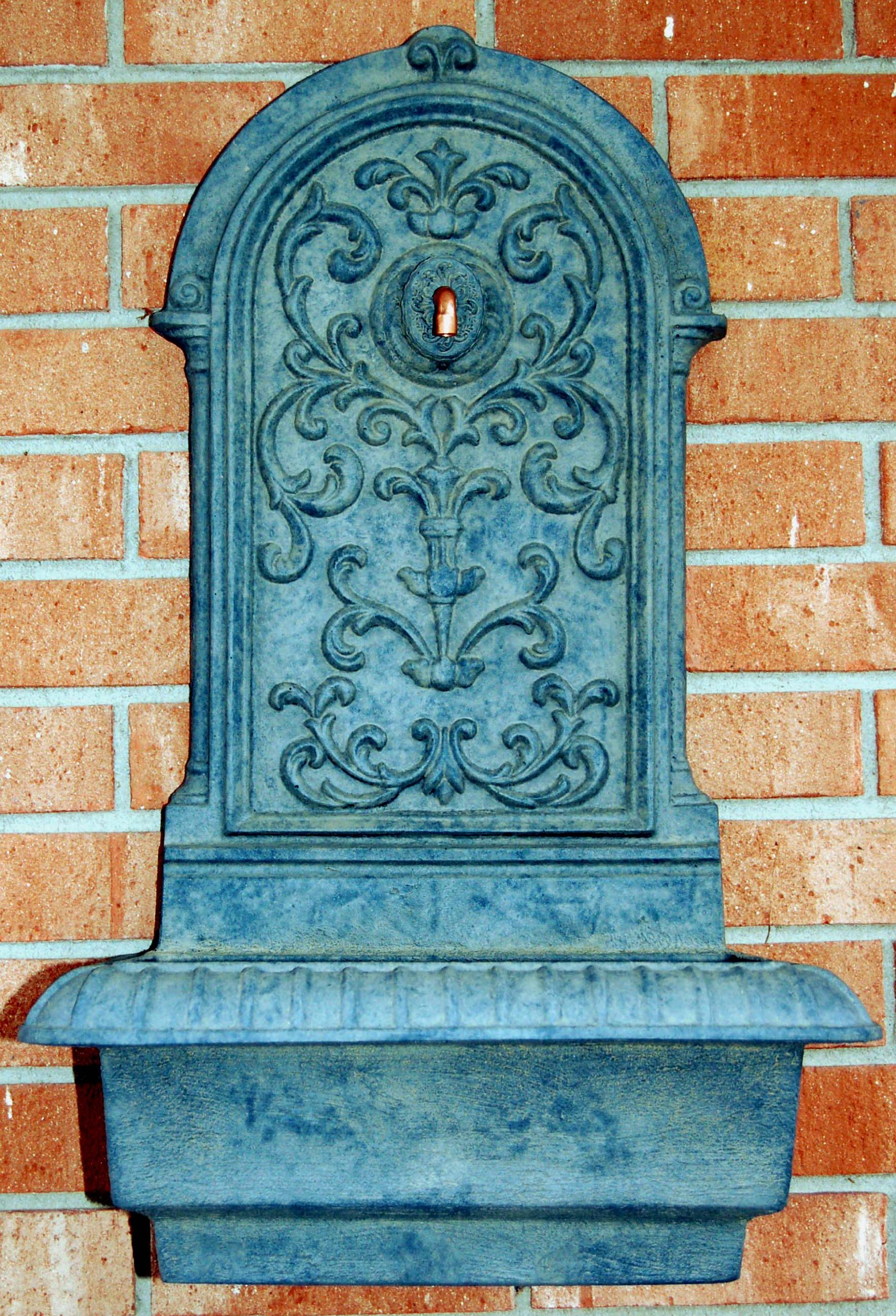 Ladybug Renaissance Wall Fountain, Lead