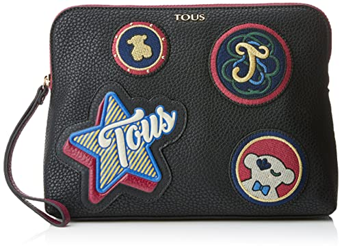 Tous Patch Medallion, Cartera de mano para Mujer, Negro (Black), 7x21x29
