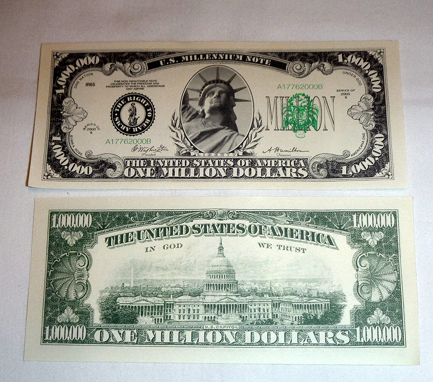 Traditional One Million Dollar Bill Single Toys Games